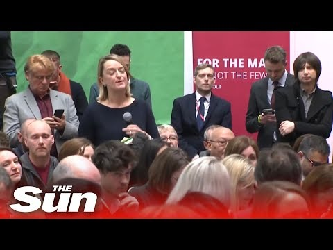 Laura Kuenssberg booed by Labour Party manifesto crowd