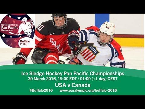 USA v Canada | Prelim | 2016 Ice Sledge Hockey Pan Pacific Championships, Buffalo