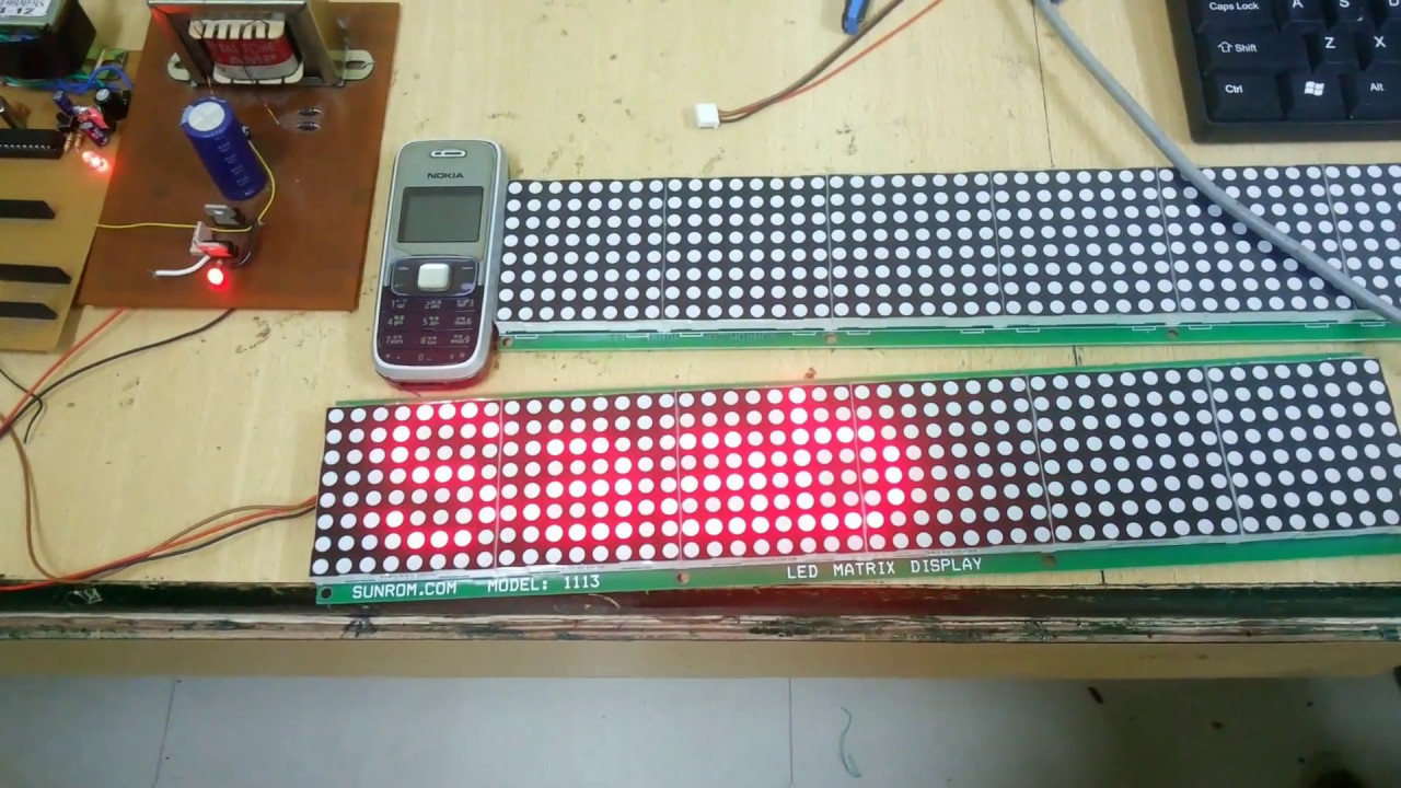 Led Matrix Scrolling Using Pc And Pic Microcontroller Pic16f73 Based Temperature Indicator Controller Best Engineering