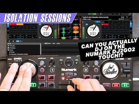 Can you actually DJ on the Numark DJ2GO2 TOUCH? Unboxing, review & mix w/ scratch DJ Jimi Needles