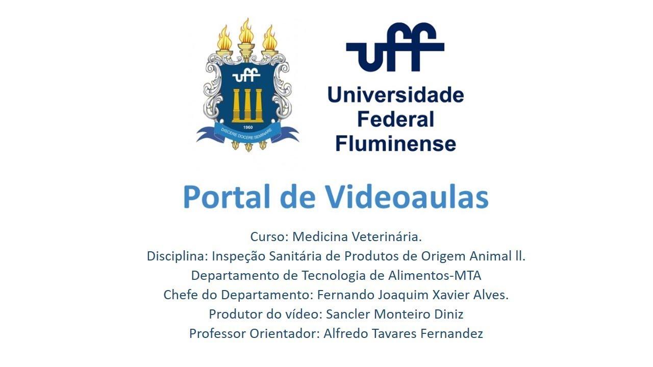 Videoaula - Disciplina de Inspeção De Produtos de Origem Animal II -  Universidade Federal Fluminense 3c8cd7fa8724e