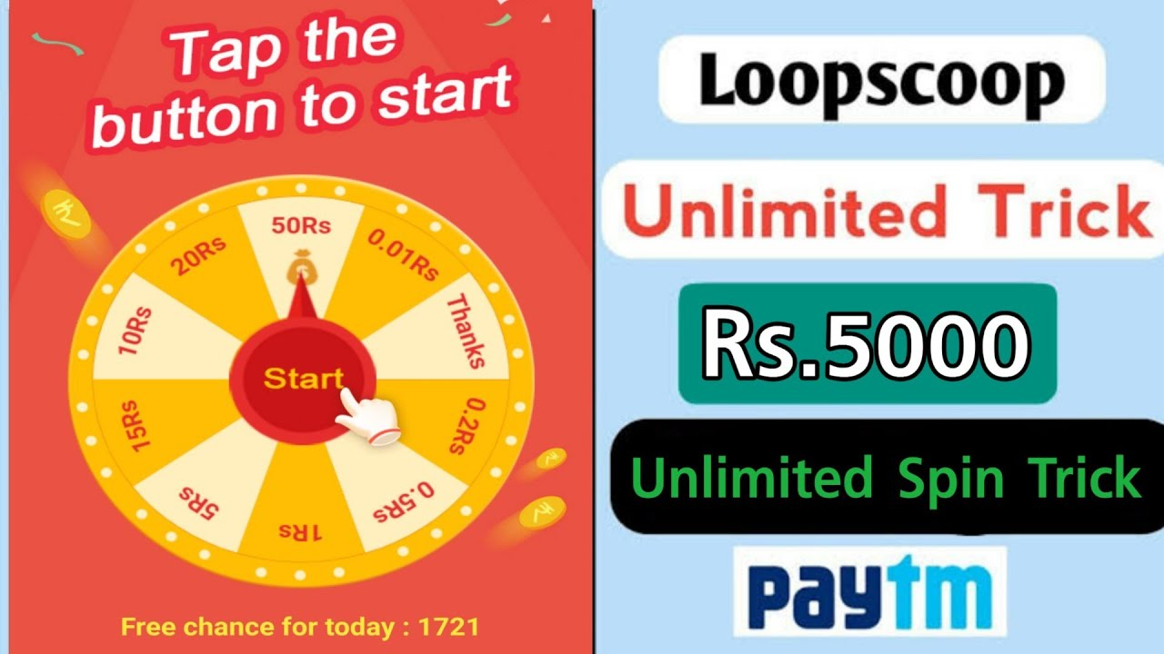 LopScoop App Unlimited Trick | Unlimited Spin In One Device Trick | Best  Paytm Cash Earning App