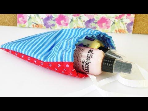 DIY Geschenk Verpackung im kleinen Stoffbeutel   nähen für Anfänger    süßes Beutelchen aus Stoff