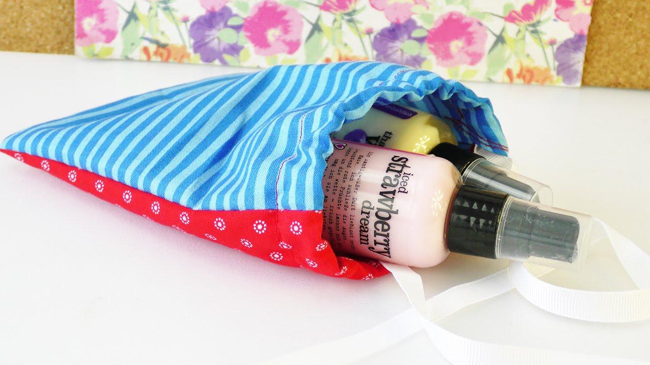diy geschenk verpackung im kleinen stoffbeutel n hen f r. Black Bedroom Furniture Sets. Home Design Ideas