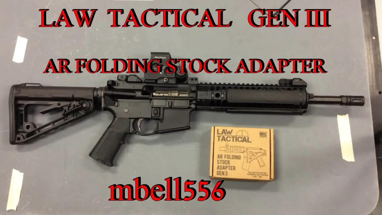 LAW Tactical Folding Stock Adapter, Generation 3 Review by Michael Bell