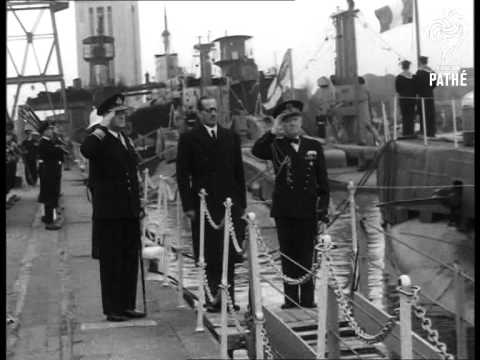 Submarine Handed To France (1951)