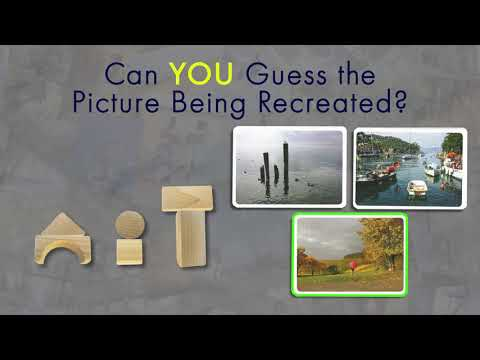 Pictures - the game where players use common objects to recreate photos.  Can you guess the photo?