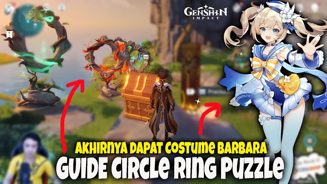 Akhirnya Dapat Costume BARBARA - GUIDE Circle Ring Puzzle - Geshin Impact