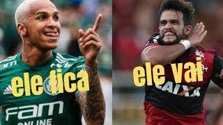 Deyverson fica, Dourado vai. Azar do Palmeiras, sorte do Flamengo