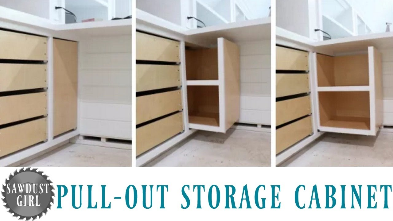 Building a Pull Out Storage Cabinet & Building a Pull Out Storage Cabinet - YouTube