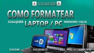COMO FORMATEAR UNA LAPTOP/PC E INSTALAR WINDOWS 10 DESDE CERO | HP NoteBook 14-am017la