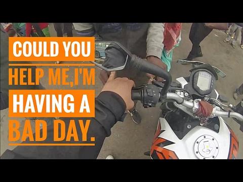 BAD DAY with KTM Duke 200   Clutch Wire Broke  