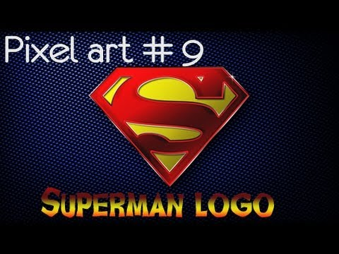 Pixel Art 9 Superman Logo
