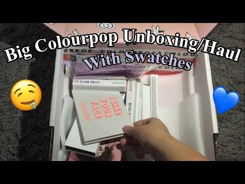 BIG Colourpop Haul W/ Swatches || (FINALLY!)