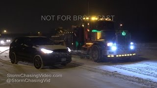 West Denver, CO Night Snows & Traffic - 12/7/2016