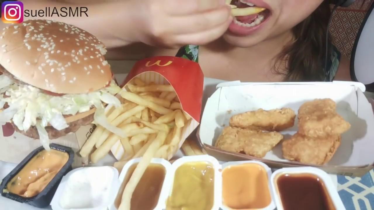 No Talking Asmr Mcdonalds Feast Mukbang Big Mac Burger Chicken Nuggets Dreamy Suellasmr