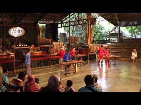 Angklung music - Saung Angklung Udjo in Bandung, Indonesia.