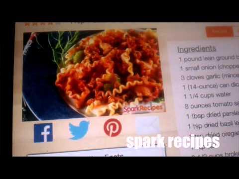 Spark Recipes App