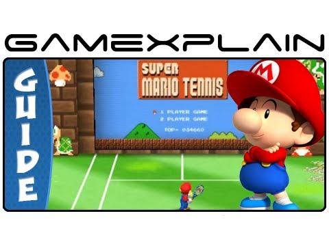 Mario Tennis Open: Unlock Baby Mario - Super Mario Tennis 1-3 Guide & Walkthrough