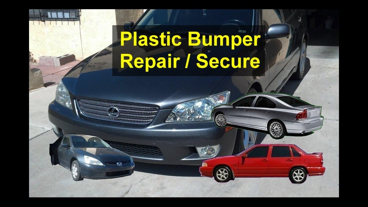 Plastic Bumper Wing Repair How To Secure A Loose Bumper Auto Repair Series