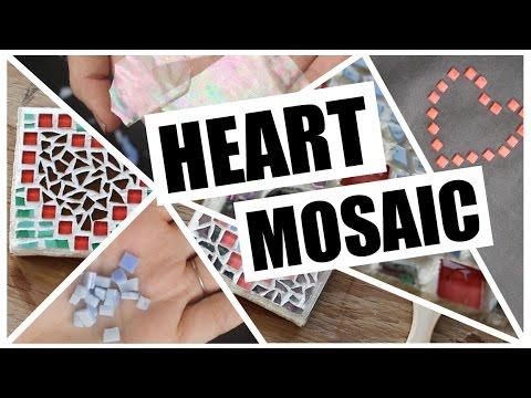 DIY- 8 Bit Heart Glass Mosaic