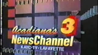 KATC Acadiana's Newschannel open 1997 (Beausoleil Doucet theme)