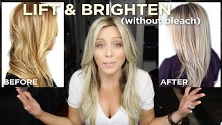 How To Lift and Brighten your blonde in one step, without bleach!
