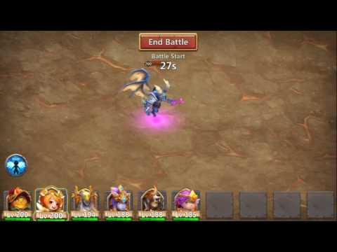 Castle Clash- Archdemon  Increases ATK Slowdown Strategy (No Medusa)
