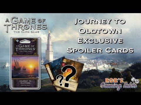 Game of Thrones Card Game - Journey to Oldtown Spoiler Cards!