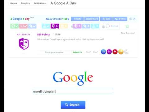 A Google a Day gameplay
