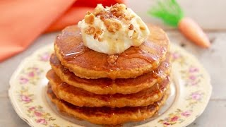 Carrot Cake Pancakes with Cream Cheese Frosting - Gemma's Bigger Bolder Baking Ep  117