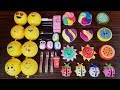 Making Slime With Emoji Balloons Makeup And Clay