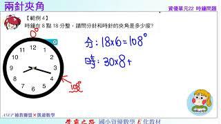 國小資優數學 單元22 時鐘問題 題4 兩針夾角 ASEPx凱爺數學