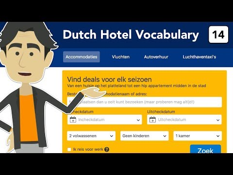 Dutch hotel vocabulary - Learn to book a hotel online. in Dutch!