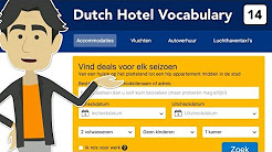 Dutch hotel vocabulary - Learn to book a hotel online. in Dutch!