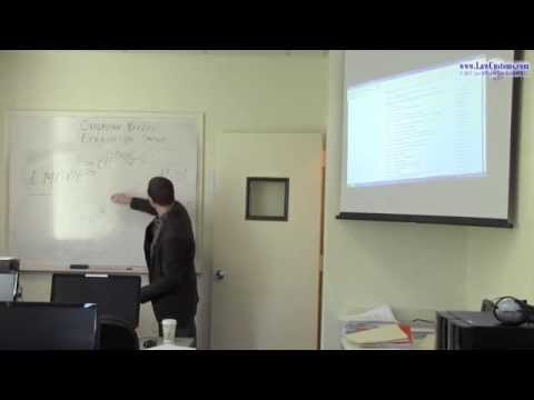 April 2013 Customs Broker License Examination Preparation Class 1 Part 1