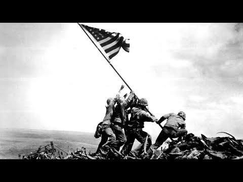 American flag is raised on Iwo Jima - 2/23/1945