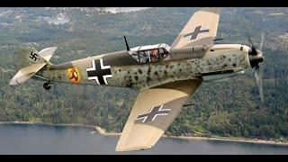 Messerschmitt Bf 109 Flying at Hahnweide Vintage Air Show 2011