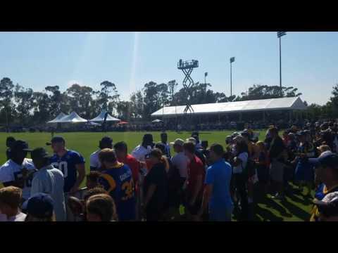 LA Rams training camp 17. Nelson Spruce, EJ Gaines, Conor Barwin, Rockstar Ram