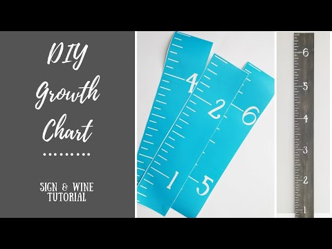 DIY Growth Chart Ruler- Wood Sign Home Decor