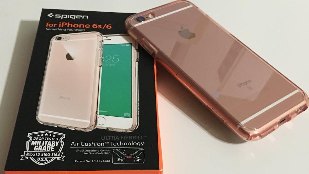 buy popular f2d3d 1f9b9 Unboxing: Spigen Ultra Hybrid Rose Gold 6s Case