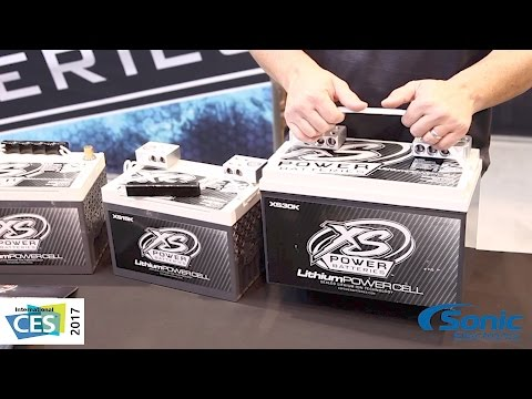XS Power Lithium Power Cell Car Batteries | CES 2017