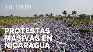 Nicaragua se vuelca en una gigantesca marcha contra Ortega
