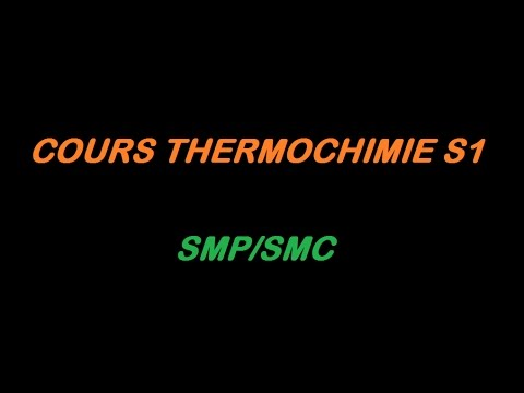 PDF TÉLÉCHARGER COURS THERMOCHIMIE