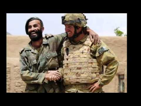 American and Australian soldiers in Afghanistan Tribute