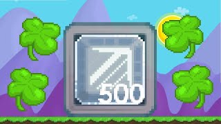 Growtopia - Breaking 500 Ice Cube Blocks w/Clover