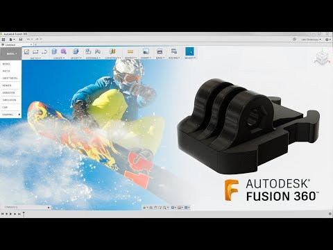 Fusion 360 Absolute Beginner - How To Model a GoPro Mount - Last Nights Facebook Livestream