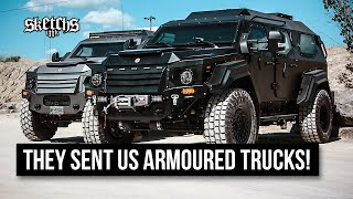 MASSIVE Armoured Trucks get Custom-Painted for Ardbeg  - Terradyne Gurkha LAPV