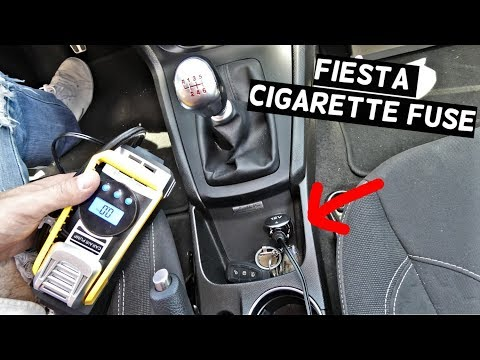 ford fiesta cigarette lighter fuse location replacement mk7 st - youtube  youtube