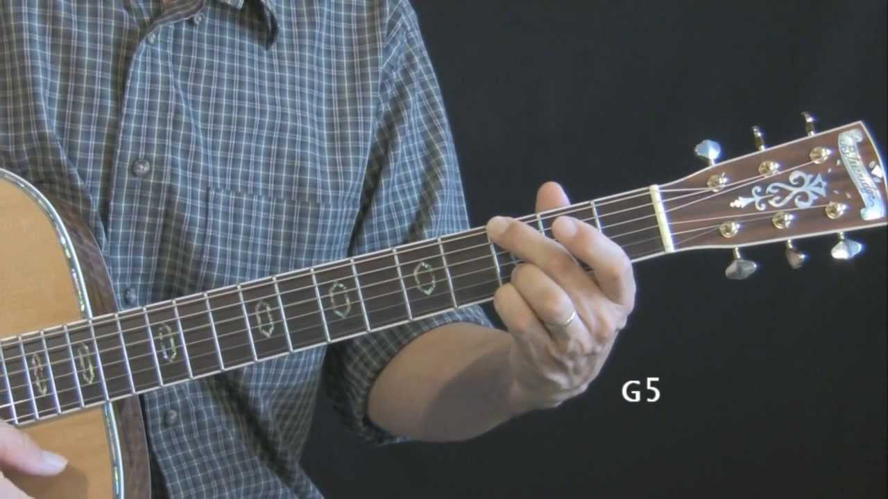 6 Ways To Play The Open Position G Chord Youtube